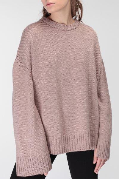 Объемный свитер из шерсти MISS_PU-015-nude, фото 3 - в интеренет магазине KAPSULA