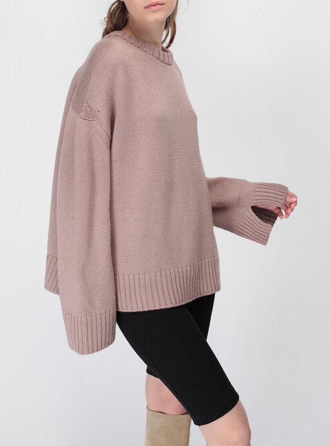 Объемный свитер из шерсти MISS_PU-015-nude, фото 1 - в интеренет магазине KAPSULA