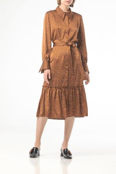 Платье в горох с поясом ALOT_100421, фото 5 - в интеренет магазине KAPSULA