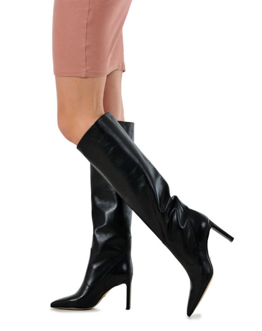 Кожаные сапоги на среднем каблуке MDVV_146001, фото 1 - в интеренет магазине KAPSULA