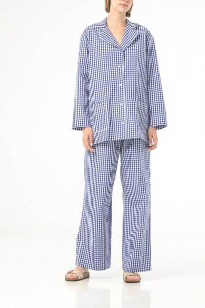 Хлопковая пижама в клетку ALOT_020221, фото 1 - в интеренет магазине KAPSULA