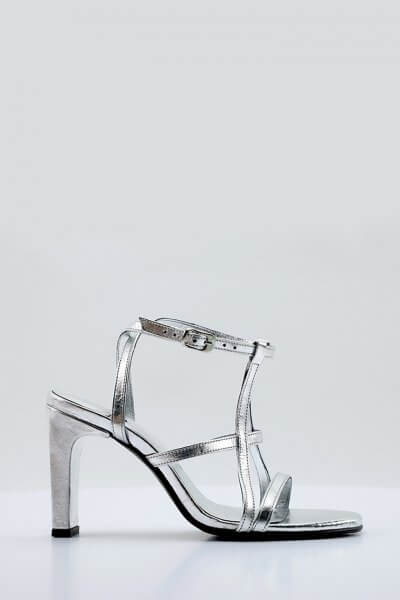 Кожаные босоножки Elena NZR_Elena-silver, фото 1 - в интеренет магазине KAPSULA