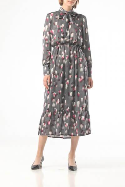 Серое платье в принт с мазками ALOT_100418, фото 4 - в интеренет магазине KAPSULA