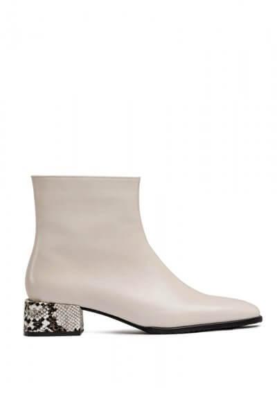 Кожаные ботинки на среднем каблуке MDVV_452501, фото 4 - в интеренет магазине KAPSULA