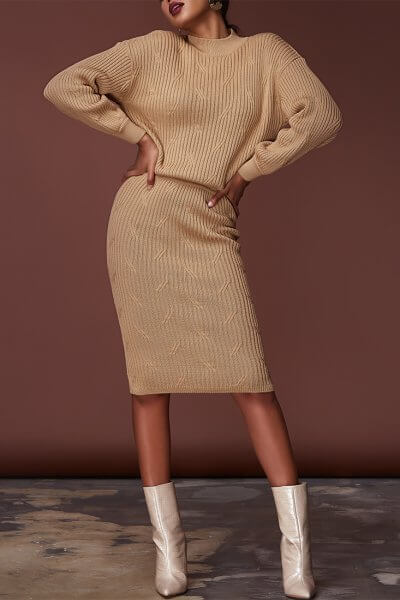 Комплект с юбкой из шерсти JDW_JD1609, фото 1 - в интеренет магазине KAPSULA