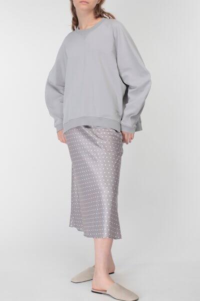 Юбка миди в горох MISS_SK-007-grey, фото 6 - в интеренет магазине KAPSULA