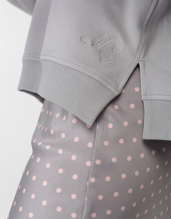 Юбка миди в горох MISS_SK-007-grey, фото 5 - в интеренет магазине KAPSULA