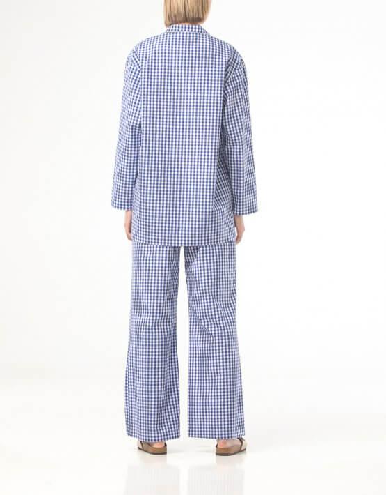 Хлопковая пижама в клетку ALOT_020221, фото 5 - в интеренет магазине KAPSULA