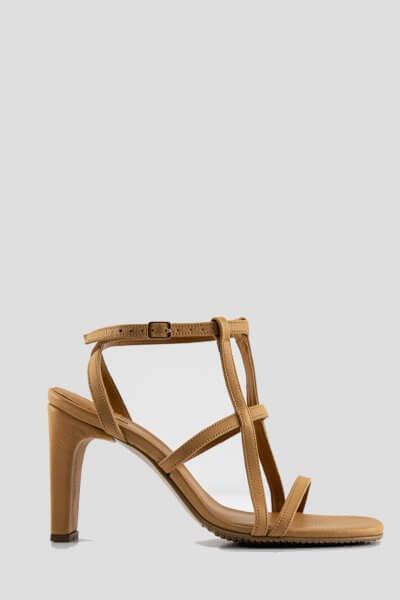Кожаные босоножки Elena NZR_Elena-beige, фото 4 - в интеренет магазине KAPSULA