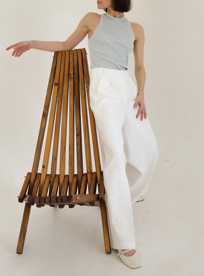 Прямые брюки с высокой посадкой FRBC_Fbtrous_milk, фото 1 - в интернет магазине KAPSULA
