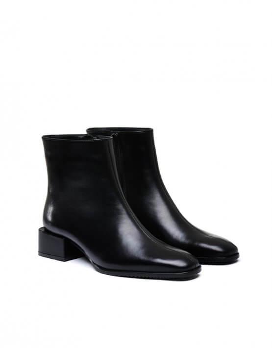 Кожаные ботинки на низком каблуке MDVV_452511, фото 4 - в интеренет магазине KAPSULA
