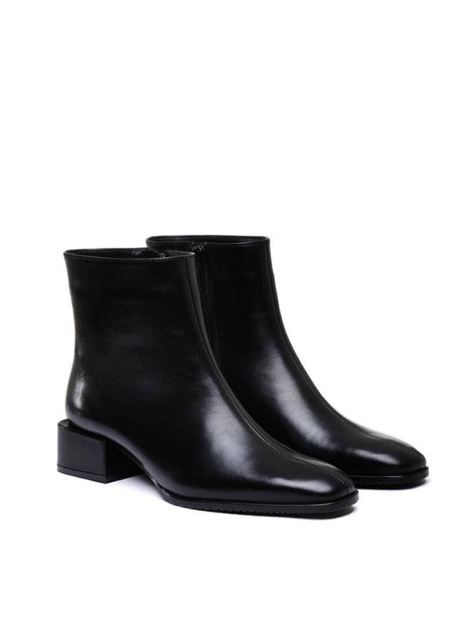 Кожаные ботинки на низком каблуке MDVV_452511, фото 1 - в интеренет магазине KAPSULA