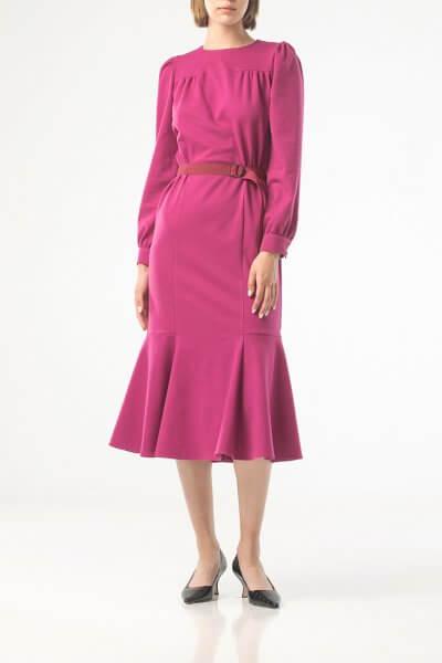 Платье миди с поясом ALOT_100420, фото 5 - в интеренет магазине KAPSULA