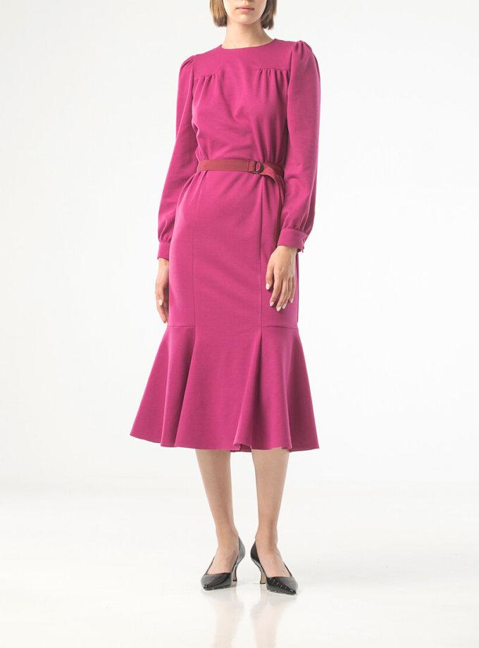 Платье миди с поясом ALOT_100420, фото 1 - в интеренет магазине KAPSULA