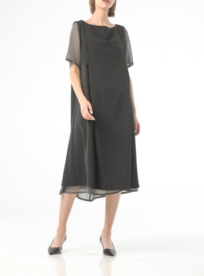 Двухслойное платье на молнии ALOT_100426, фото 1 - в интеренет магазине KAPSULA