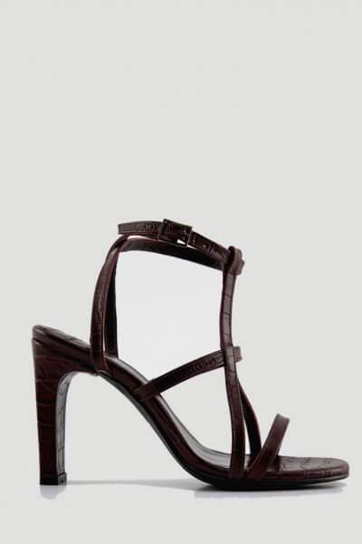 Кожаные босоножки Elena NZR_Elena-burgundy, фото 1 - в интеренет магазине KAPSULA