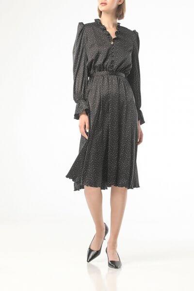 Платье миди в горох с рюшами ALOT_100419, фото 6 - в интеренет магазине KAPSULA