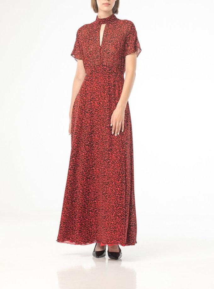 Платье макси в цветочный принт ALOT_100425, фото 1 - в интеренет магазине KAPSULA