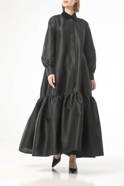 Объемное платье макси ALOT_100435, фото 1 - в интеренет магазине KAPSULA