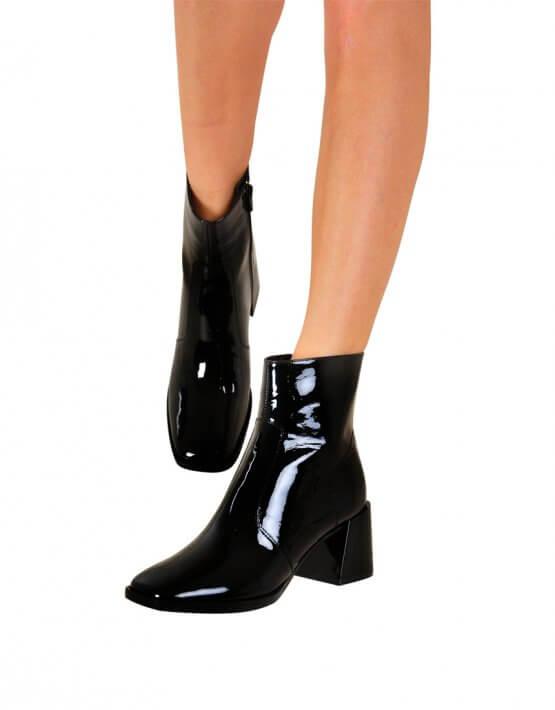 Лаковые ботинки на среднем каблуке MDVV_946031, фото 5 - в интеренет магазине KAPSULA