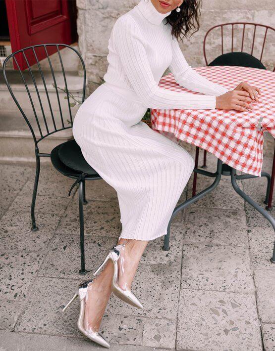 Костюм Paris в рубчик из шерсти JDW_JD2109, фото 5 - в интеренет магазине KAPSULA
