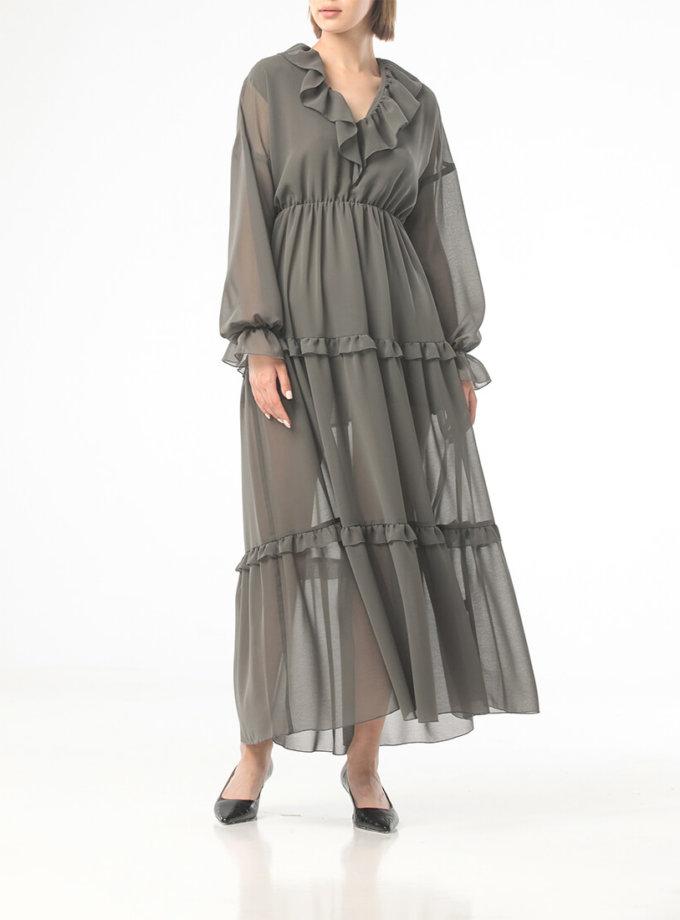 Шифоновое платье с воланами ALOT_100430, фото 1 - в интеренет магазине KAPSULA