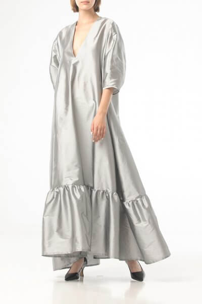 Объемное платье макси ALOT_100436, фото 3 - в интеренет магазине KAPSULA