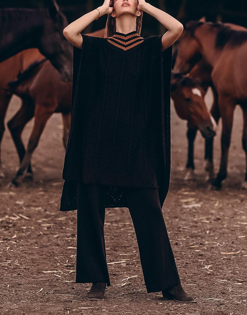 Пончо из шерсти фактурной вязки KNIT_20020, фото 1 - в интеренет магазине KAPSULA