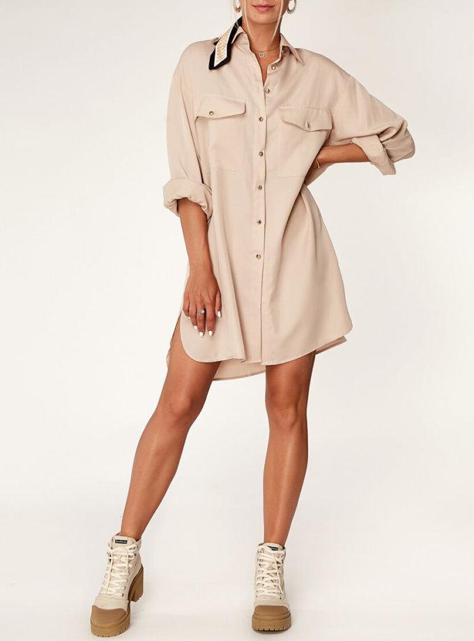 Платье-рубашка из тенсела CVR_BEJSHT2020, фото 1 - в интеренет магазине KAPSULA
