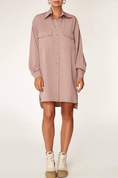 Платье-рубашка из тенсела CVR_COFSHT2020, фото 1 - в интеренет магазине KAPSULA