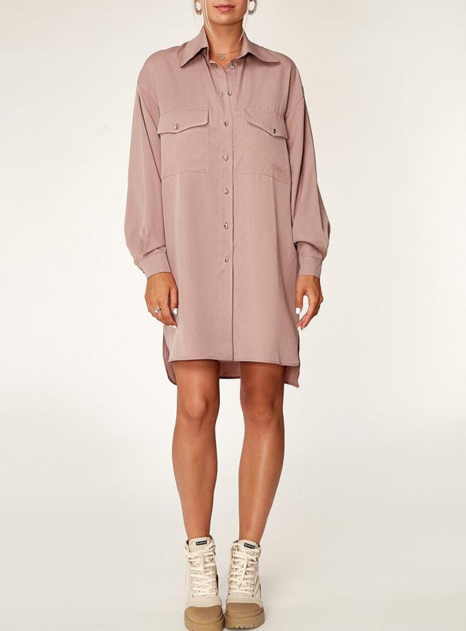 Платье-рубашка из тенсела CVR_COFSHT2020, фото 1 - в интернет магазине KAPSULA