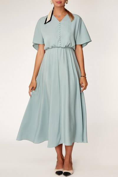 Платье миди из тенсела CVR_MINTDR2020, фото 3 - в интеренет магазине KAPSULA