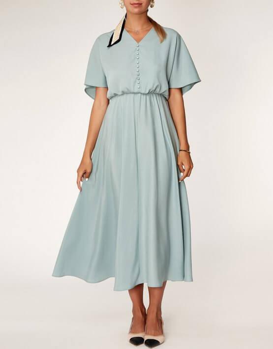 Платье миди из тенсела CVR_MINTDR2020, фото 4 - в интеренет магазине KAPSULA