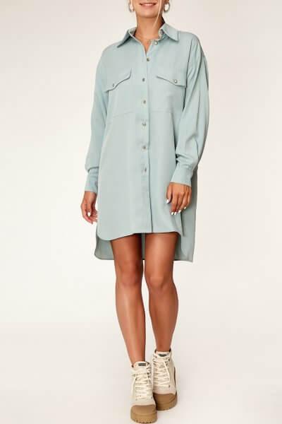 Платье-рубашка из тенсела CVR_MINTSHT2020, фото 12 - в интеренет магазине KAPSULA