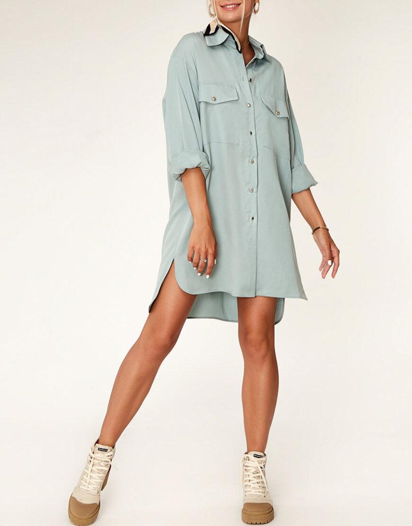 Платье-рубашка из тенсела CVR_MINTSHT2020, фото 1 - в интернет магазине KAPSULA