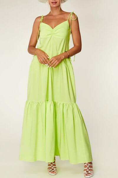 Неоновое платье из хлопка CVR_NEOLIME, фото 3 - в интеренет магазине KAPSULA