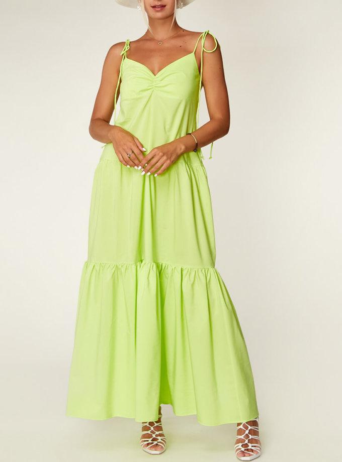 Неоновое платье из хлопка CVR_NEOLIME, фото 1 - в интеренет магазине KAPSULA