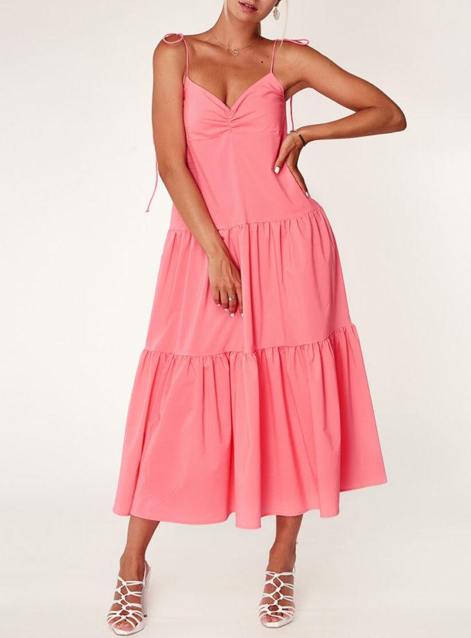 Неоновое платье из хлопка CVR_NEOPINK2020, фото 1 - в интернет магазине KAPSULA