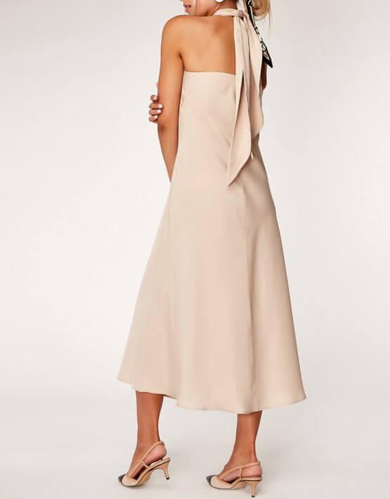 Платье с открытой спиной из тенсела CVR_OPENBEJ2020, фото 4 - в интеренет магазине KAPSULA