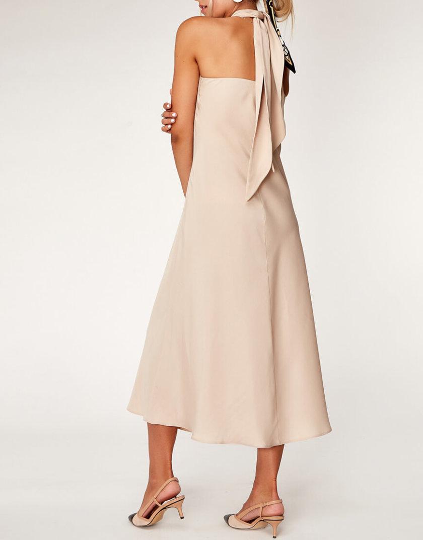 Платье с открытой спиной из тенсела CVR_OPENBEJ2020, фото 1 - в интернет магазине KAPSULA