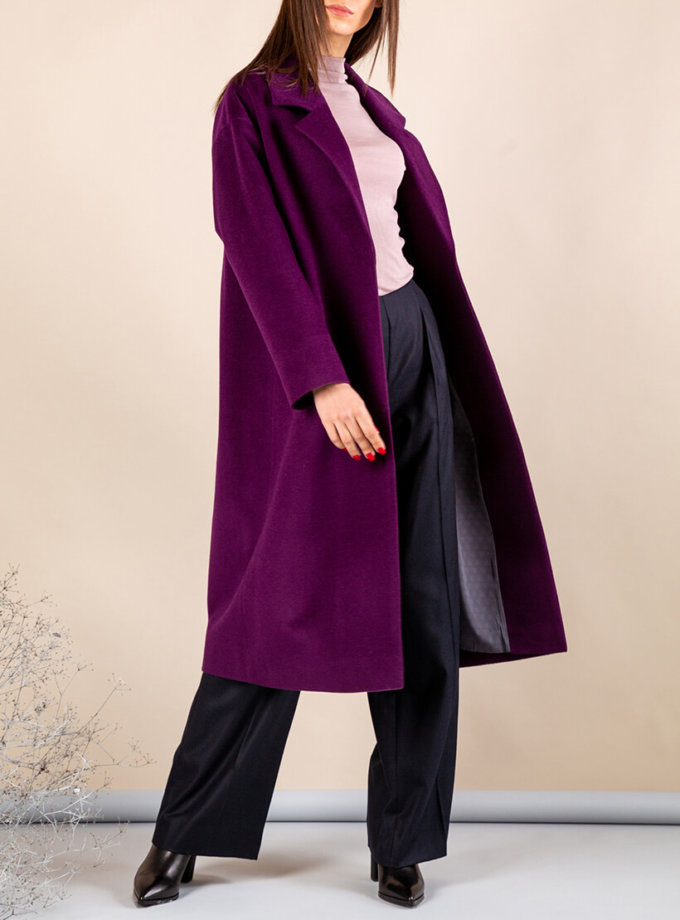 Пальто из тонкой шерсти MMT_093_fiolet, фото 1 - в интернет магазине KAPSULA