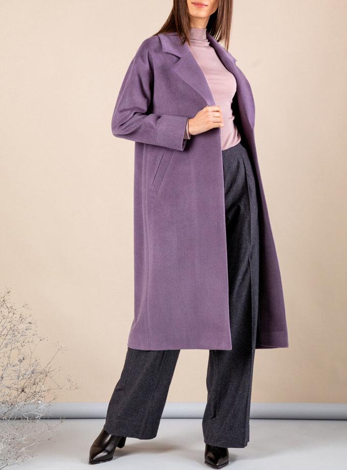 Кашемировое пальто с поясом MMT_093_lavanda, фото 1 - в интернет магазине KAPSULA