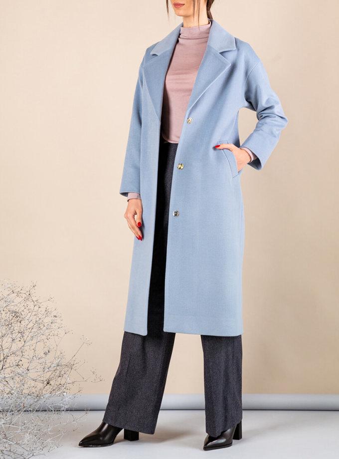 Пальто из тонкой шерсти MMT_093_blue, фото 1 - в интернет магазине KAPSULA