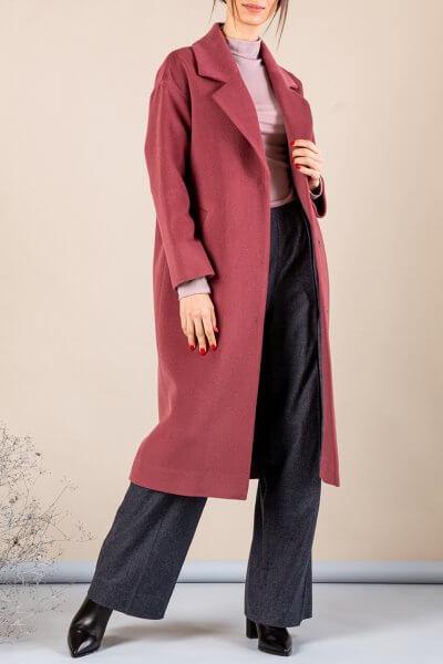 Кашемировое пальто с поясом MMT_093_rose, фото 1 - в интеренет магазине KAPSULA