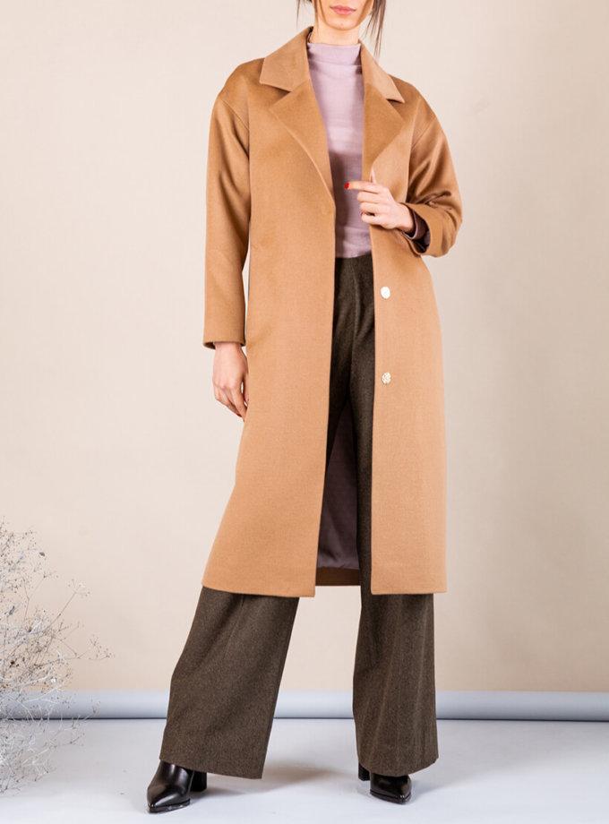 Пальто из тонкой шерсти MMT_093_camel, фото 1 - в интернет магазине KAPSULA