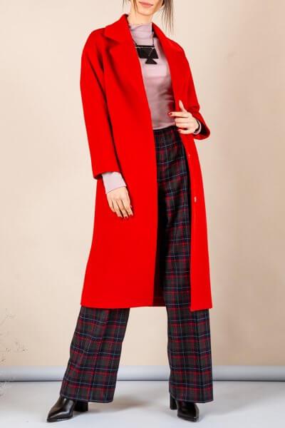 Пальто из плотной шерсти MMT_093_red, фото 1 - в интеренет магазине KAPSULA