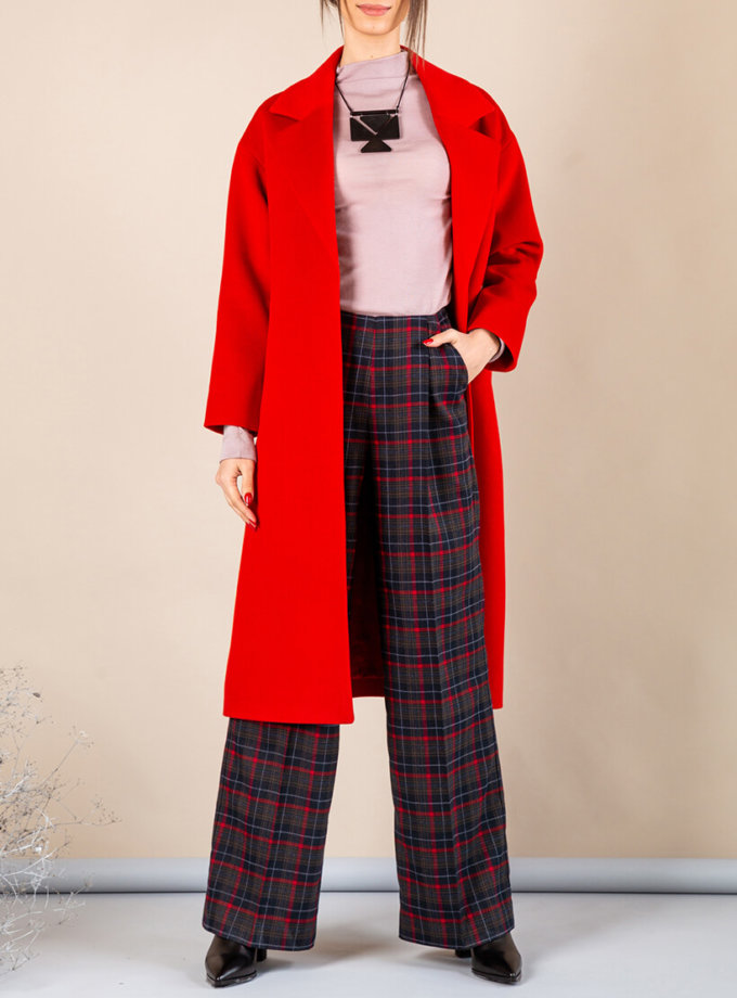 Пальто из плотной шерсти MMT_093_red, фото 1 - в интернет магазине KAPSULA