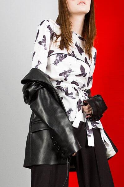 Асимметричная блуза FRY PRINT JA_1807, фото 6 - в интеренет магазине KAPSULA