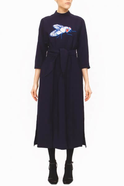 Платье миди с вышивкой JA_1833, фото 1 - в интеренет магазине KAPSULA