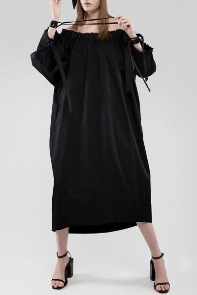 Платье с открытими плечами LARGE STYLE JA_1841, фото 1 - в интеренет магазине KAPSULA